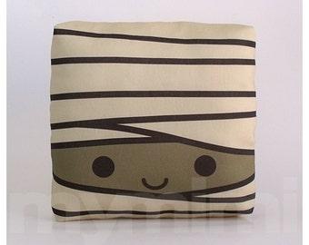 "Halloween Mummy Pillow, Decorative Pillow, Mini Pillow, Children's Pillow, Ghost Decor, Halloween Decoration, 7 x 7"" Pillow"