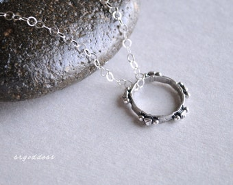 TUAREG RING all sterling silver necklace length and clasp choice by srgoddess