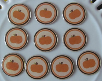 Pumpkin Flair, Buttons, Epoxy shapes - set of 10