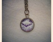 1/2 inch Purple and Ivory Lace textile necklace for bridemaids, gifts, holidays