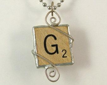 Scrabble Letter G Pendant Necklace