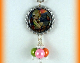"""Jasmine Becket-Griffith  """" Butterfly Chariot """"  necklace"""