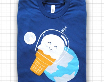 Astronaut Ice Cream American Apparel T-shirt