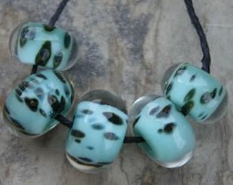 StoneyMarie Set of 5 Handmade Boro Borosilicate Lampwork Glass Beads