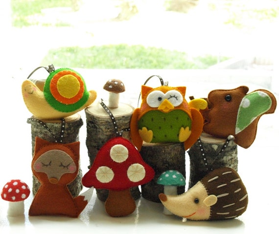 WOODLAND ANIMALS Party Favors, Party Topper, Reusable Cupcake Topper for Birthday, Baby Shower, Weddings, Woodland Theme Party (w/gift tags)
