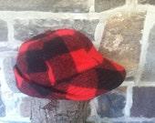 Vintage Woolrich Plaid Hunting Hat