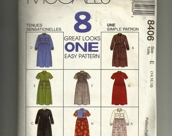 McCall's Misses' Dresses Pattern 8406