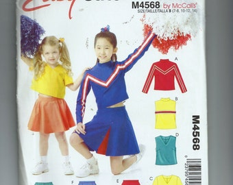 McCalls Girl's Cheerleader Costumes Pattern M4568