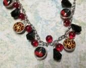 Reversible Leopard Print Cherry Bomb Bracelet