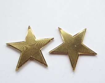 Vintage gold plated large star pendant charms