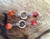 Orange sorbet earrings