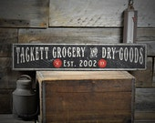 Custom Grocery & Dry Goods Sign - Rustic Hand Made Vintage Wooden ENS1000502