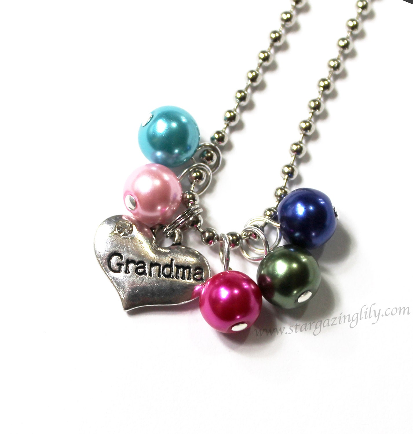 One charm necklace you choose mother grandma grandmother gift for Grandmother jewelry you can add to