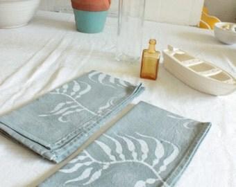 gray winter kelp batik napkins