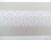 WHITE Hearts Flowers LACE 1-3/4 New 5 yds. Lingerie Doll Clothes Crafts