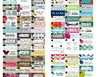 210 Custom Printed Fabric Labels fully washable top quality