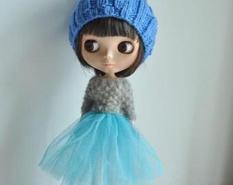 Babydoll TUTU Skirt for Blythe - Blue