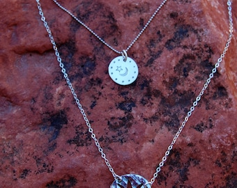 Hand Stamped Sterling Silver Game of Thrones My Sun And Stars & Moon Of My Life Necklaces
