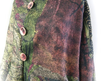 Nuno Felted Reversible Swing Jacket Size M/L a SugarPlum Original by J. Gauger
