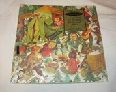 Vintage  50s  60s Boys Camping Camp Fire  Puppy Birthday Cute  Wrapping Paper Sealed Mint Never Used Kitsch