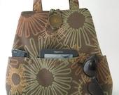 brown tote bag, womens handbag, brown shoulder bag, fabric hobo bag, everyday purse, diaper bag ,laptop bag