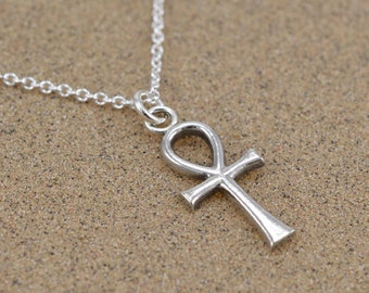 Ankh Pendant - Ancient Egyptian Key of Life - Sterling Silver