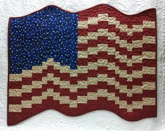 Bargello Flag Quilt