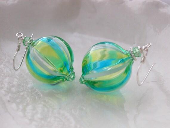 Venetian Murano Glass Blown Earrings