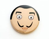 Salvador Dali One Inch Pinback Button, Magnet, or Keychain