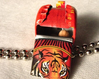 Whistle Children Toy Tiger Russian