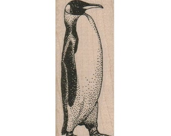 penguin rubber stamp,   SIDE VIEW stampings  art and craft supplies,   tateam  Item16747
