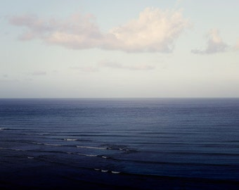"Nautical Decor, Ocean Photography, Nature Photography, Bathroom Art, Summer Clouds, Blue Wall Decor, Coastal Art ""Depth Perception"""