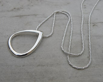 Necklace - Sterling Silver Pendant on sterling chain - eighteen inch holiday gift under 50