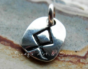 Rune Charm Sterling Silver Add A Charm Add On Pendant Made in the USA