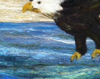 No.773 In Flight - Needlefelted wool on Felt - Wool Painting
