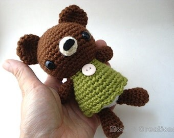Amigurumi PDF Pattern - Pretty Bear Amigurumi - Instant Download