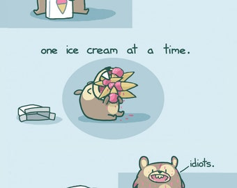 How To Eat Ice Cream Greeting Card