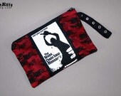 Texas Chainsaw Massacre Leatherface lace Horror Zipper Pouch Wristlet Cosmetic Bag
