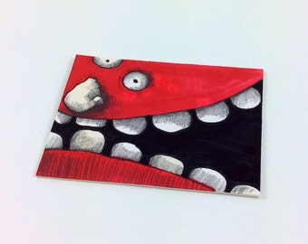 Red Monster ACEO by Aaron Butcher