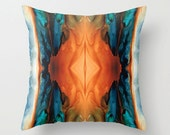 Throw Pillow Southwest Art Design COVER Southwestern Native American Orange Decor Artsy Decorating Made Easy Living Room Bedroom Bedding