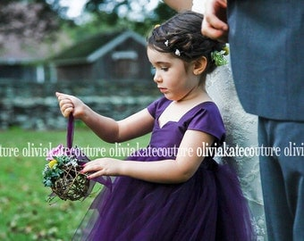 Plum Pretty Flower Girl Dress