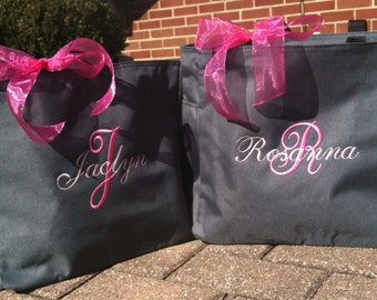 Monogrammed Tote Bags Bridesmaid - Set of 11 -