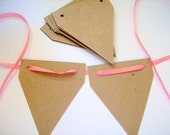 Banner blanks, chipboard, garland DIY, bunting