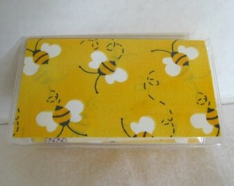 Business Card Holder Bumble Bees Mini Wallet