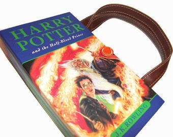 Book Purse Harry Potter Half Blood Prince Book, Upcycled Womans Fashion Accessory