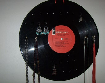 Record Album EARRING and NECKLACE Holder - Recycled - The Platters