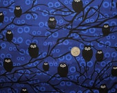 SEI, Eerie Alley, Owls in Midnight OOP Fabric - Half Yard