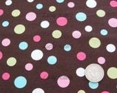RJR, Crazy For Dots, Multi Dot Brown Fabric - Half Yard