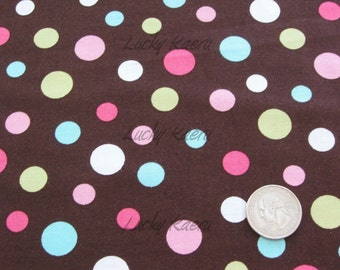 RJR, Crazy For Dots, Multi Dot Brown Fabric - Half Yard