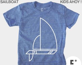 Kids TShirt, Sailboat, Boys TShirt, Girls TShirt, Baby Boy Clothes, Baby Girl Clothes, Sailing, Boating, Blue, Toddler Shirt, Kids T-Shirt